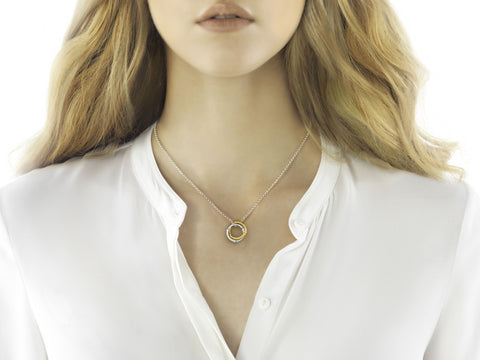 Bamboo Interlinking Pendant Necklace