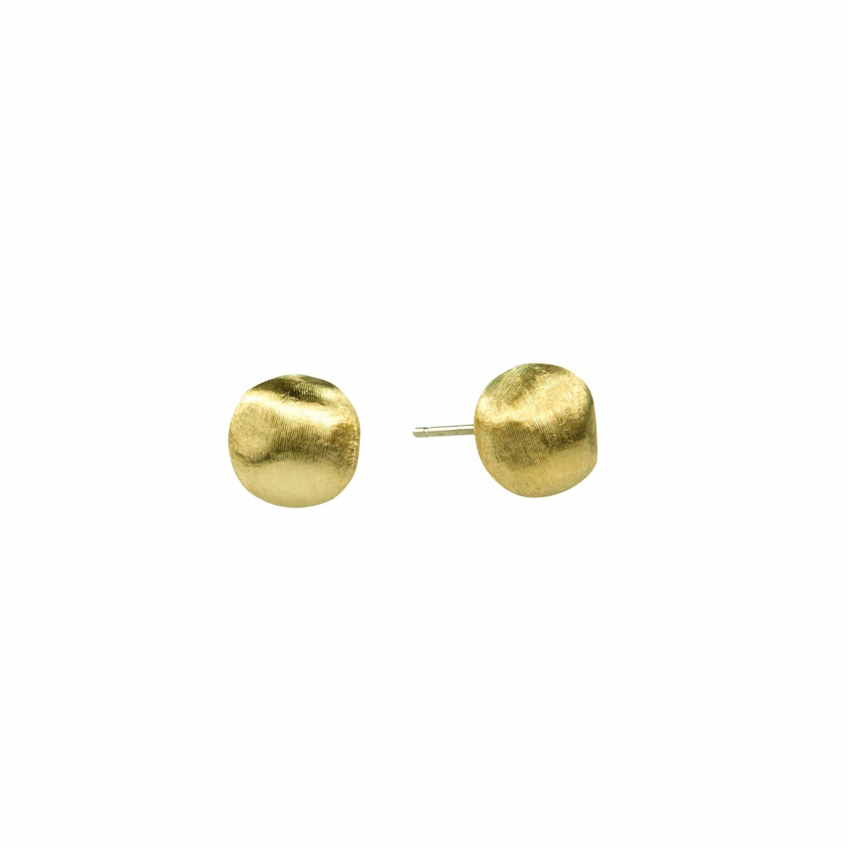 Africa 18K Yellow Gold Small Stud Earrings