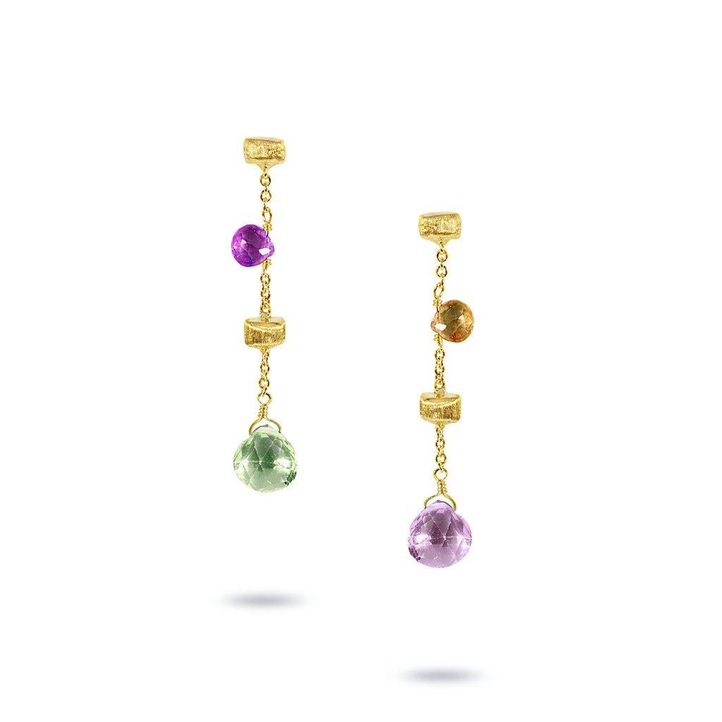 Paradise 18K Yellow Gold Multistone Drop Earrings