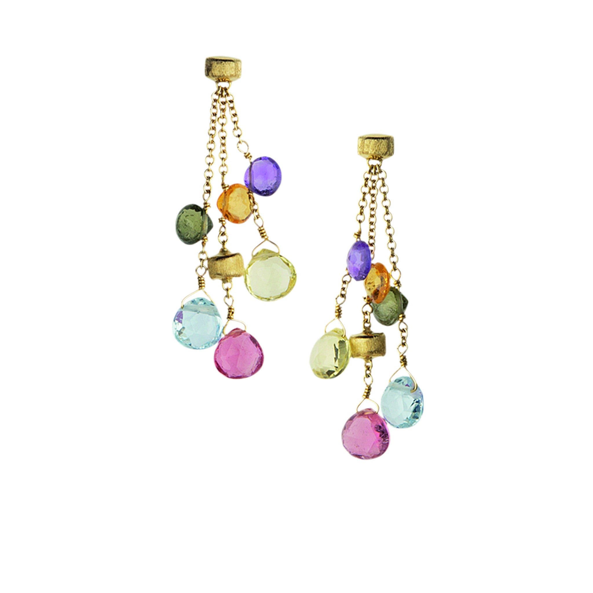 Paradise 18K Yellow Gold Multicolor Drop Earrings
