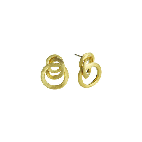 Jaipur 18K Yellow Gold Knot Stud Earrings
