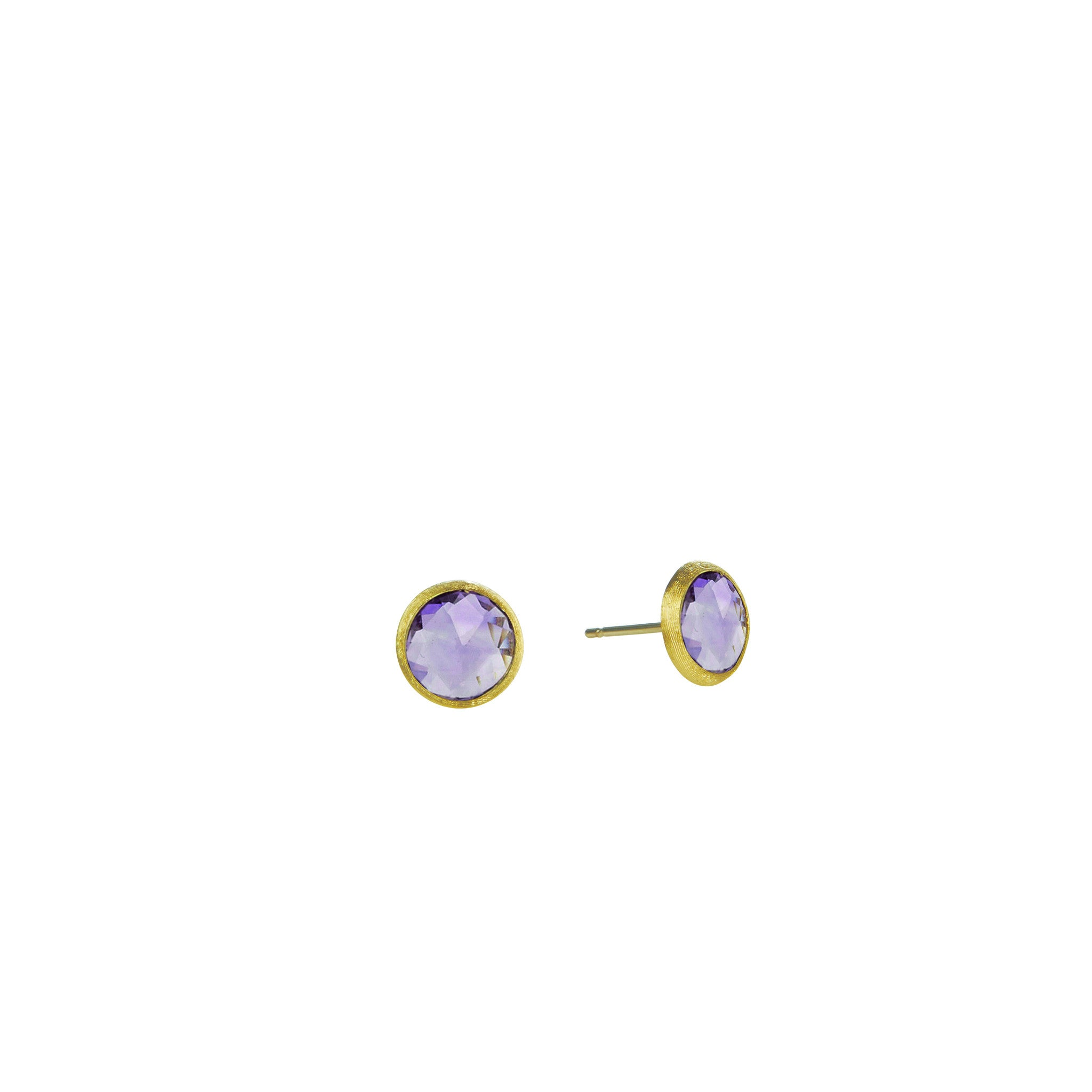 Jaipur 18K Yellow Gold & Amethyst Petite Stud Earrings