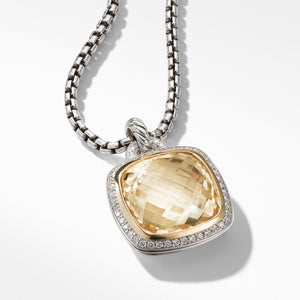 Pendant with Champagne Citrine, Diamonds and 18K Gold