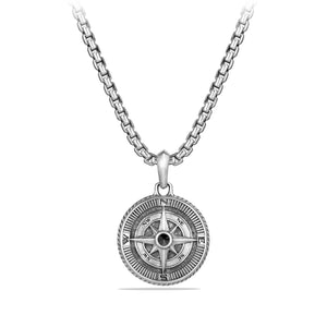 Maritime® Compass Amulet with Black Diamond