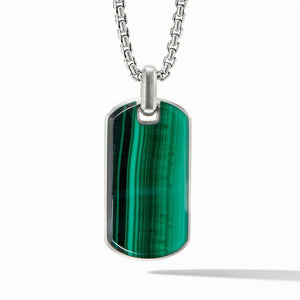 Streamline® Tag with Malachite