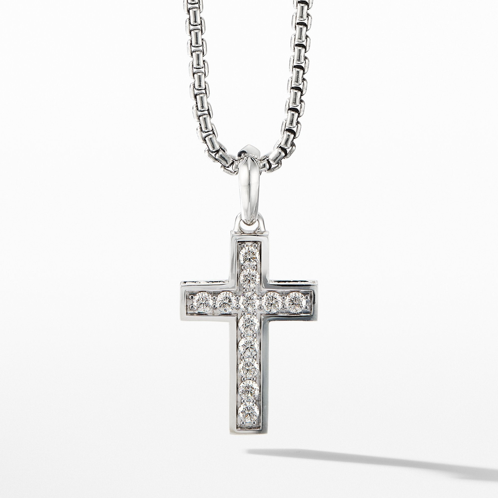Cross Pendant with Pavé Diamonds
