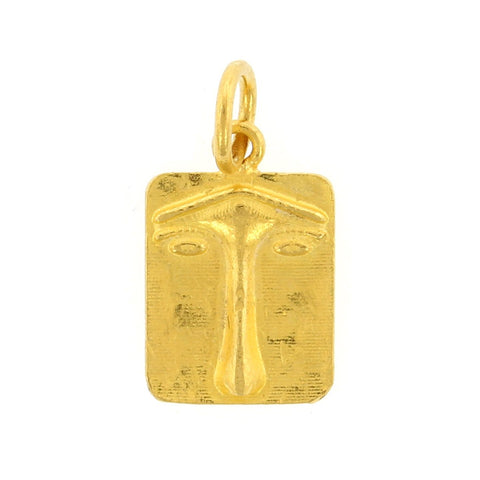 24K Yellow Gold Ancient Lion Face