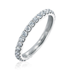Platinum Odessa™ Diamond Eternity Band 1.00 CTW