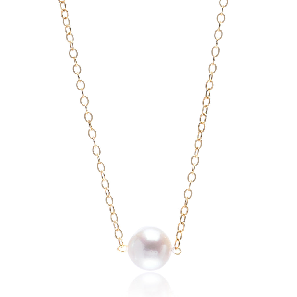 14K Yellow Gold Princess Pearl 5mm Pendant