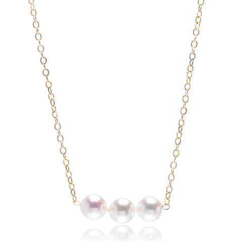 14K Yellow Gold Three Add-a-Pearl 6mm Pendant