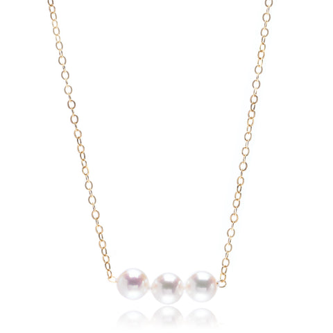 14K Yellow Gold Three Add-a-Pearl 5mm Pendant