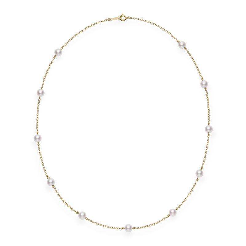 "Akoya Cultured Pearl 18"" Station Necklace"