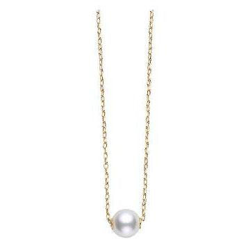 18K Yellow Gold Pearl Pendant