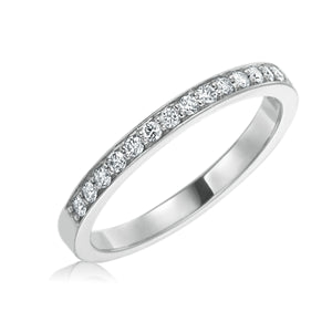 Platinum Diamond Cinderella Wedding Band