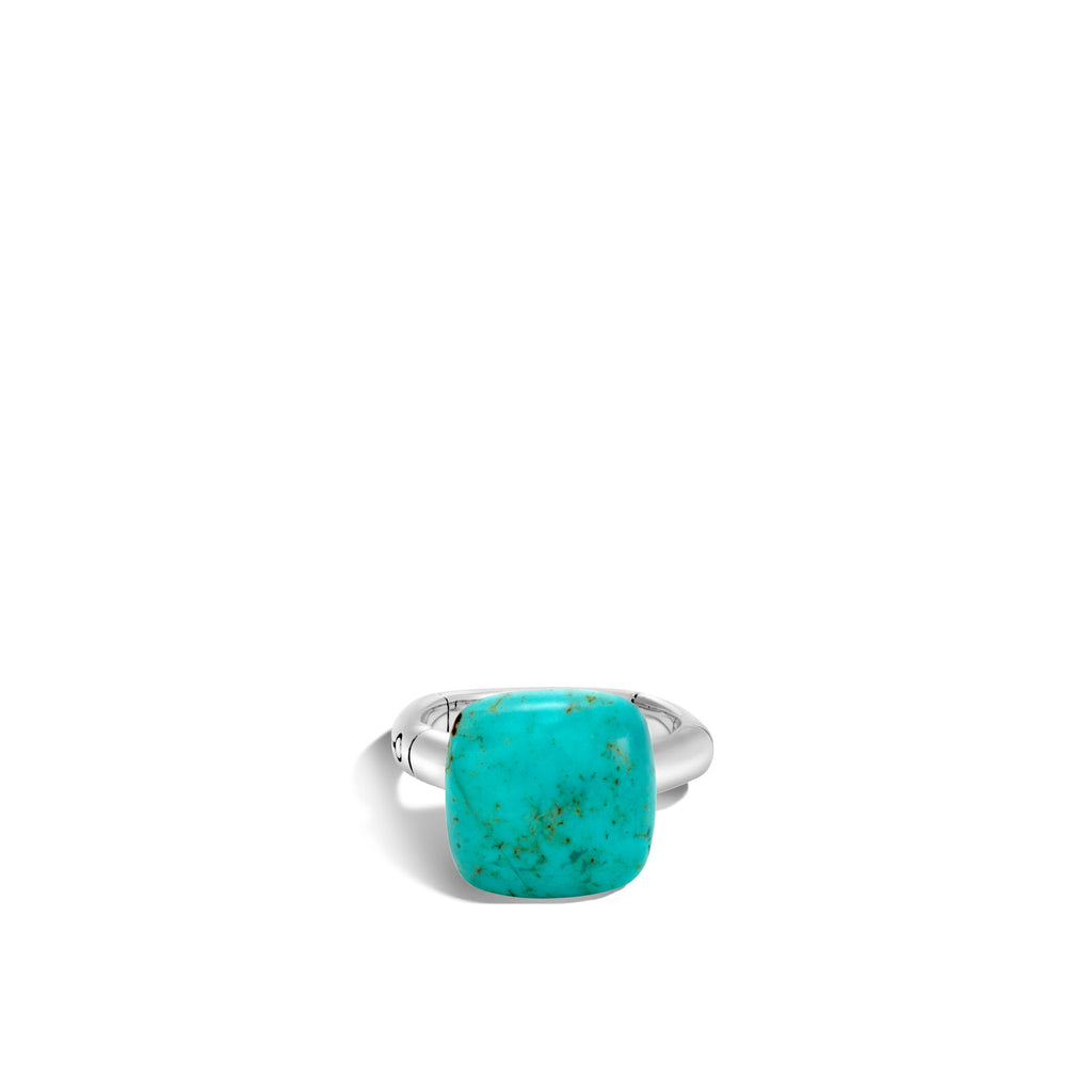 Bamboo Orb Cut Ring with Turquoise