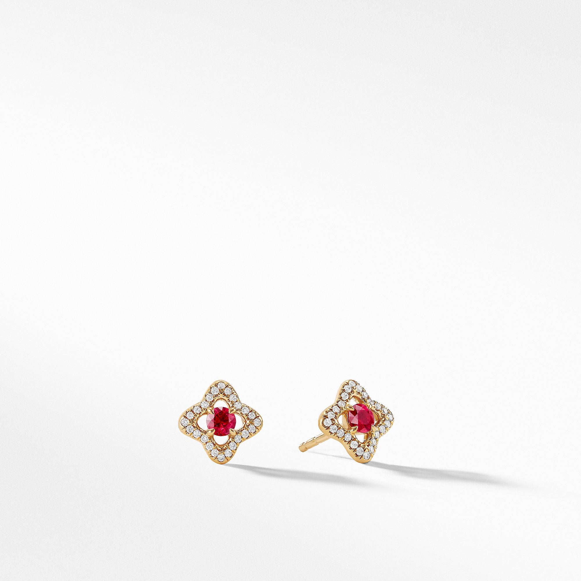 Earrings with Rubies and Diamonds in 18K Gold