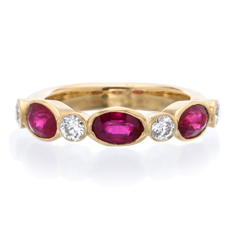 18K Rose Gold Ruby & Diamond Marbella Ring
