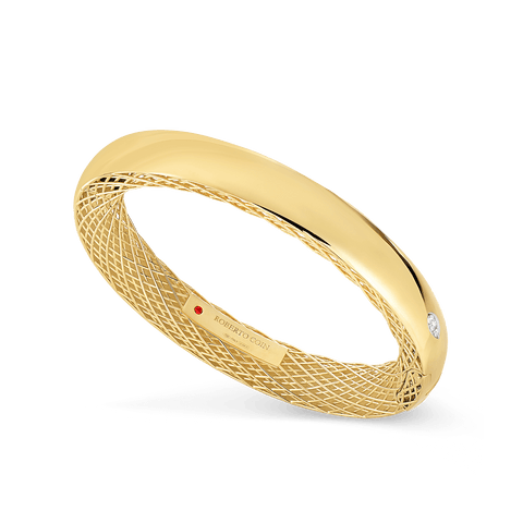 Golden Gate 18K Yellow Gold Diamond Bangle