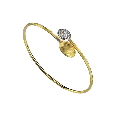 Siviglia 18K Yellow Gold Bangle with Diamonds