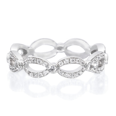 Platinum Infinity Diamond Eternity Band