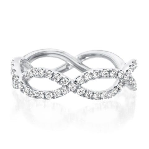 Platinum Diamond Infinity Diamond Swirl Band