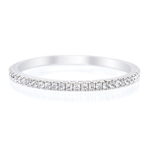 Platinum Stackable Diamond Eternity Band