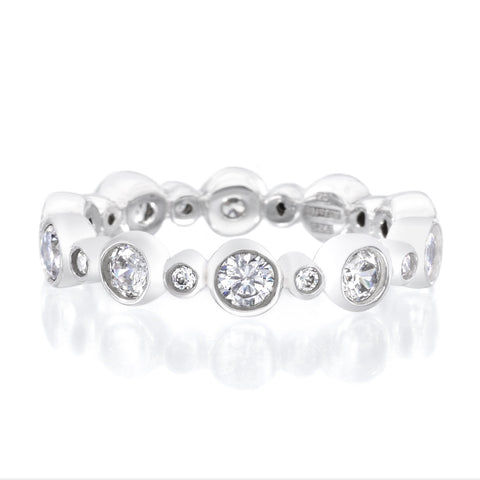 Platinum Bezel Set Diamond Eternity Band