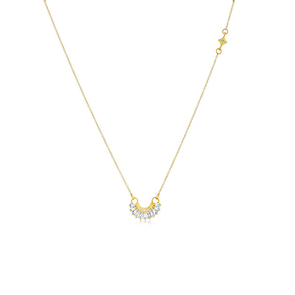 18K Yellow Gold Crivelli Diamond Necklace