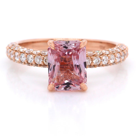 18K Rose Gold Sapphire and Diamond Ring