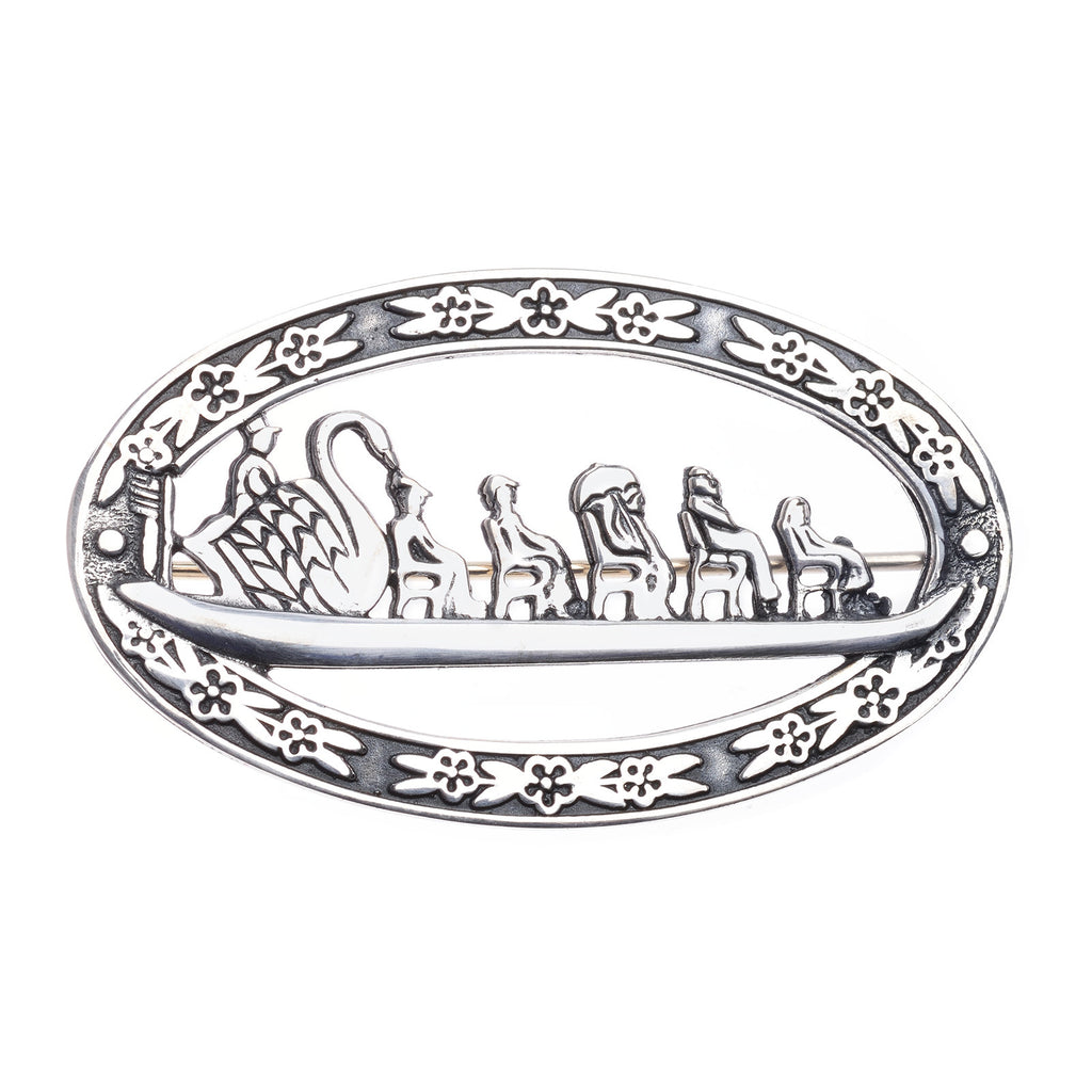 Sterling Silver Boston Swanboat Pin