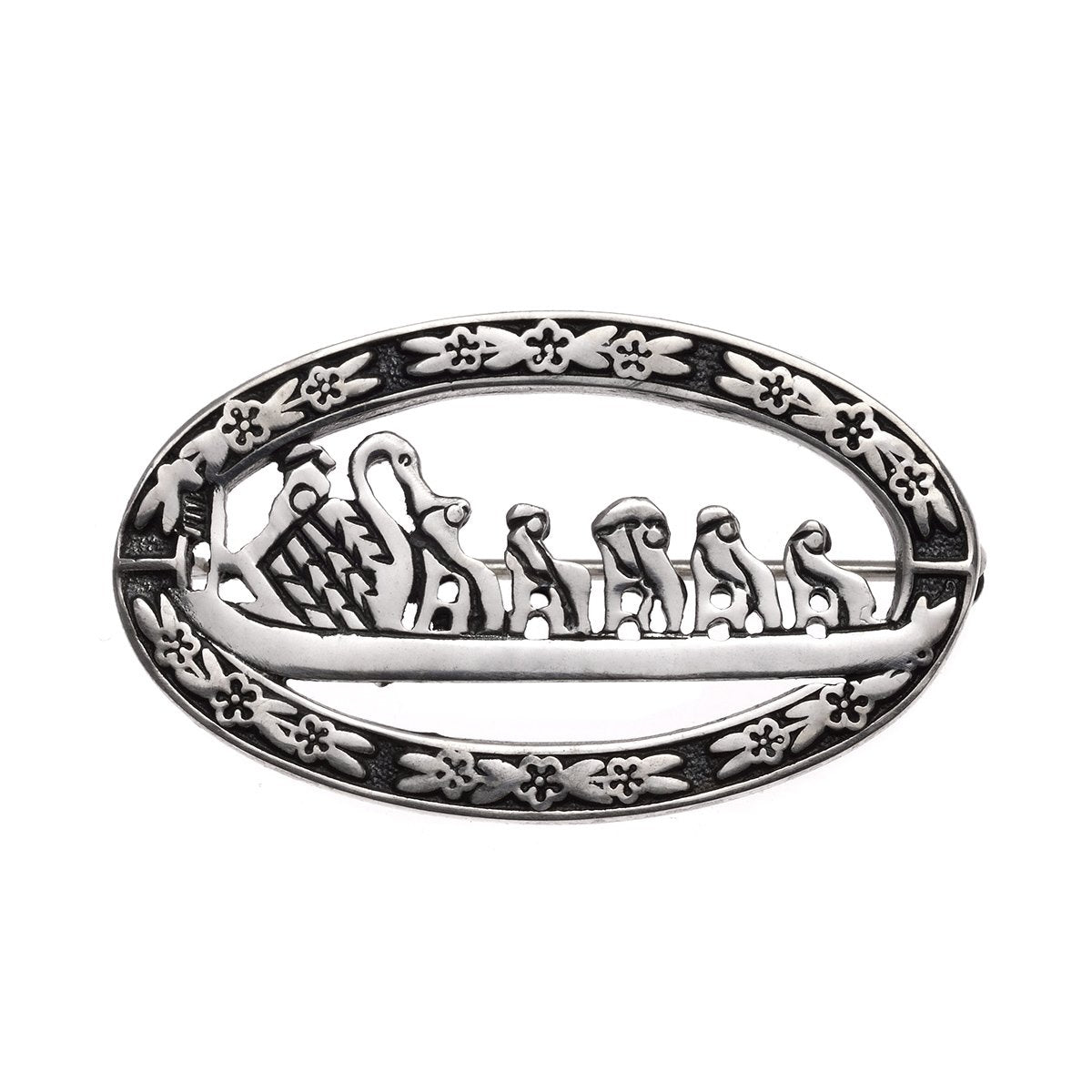 Sterling Silver Swanboat Pin