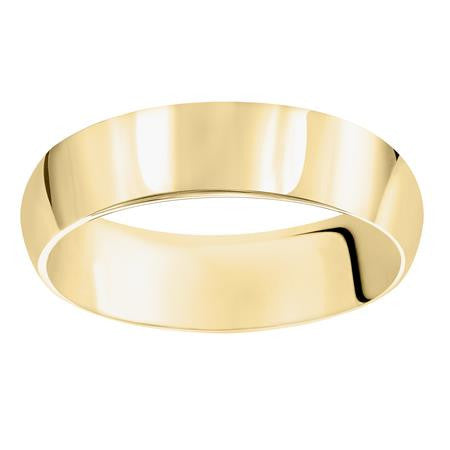 14K Yellow Gold Wedding Band 6mm