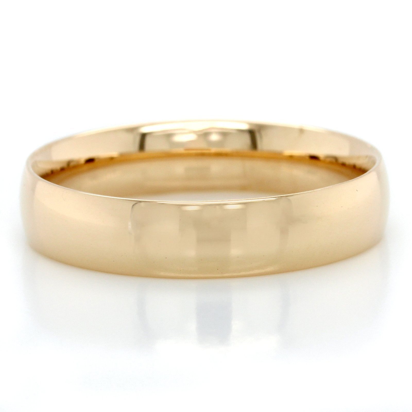 14K Yellow Gold Low Dome Comfort Fit Band