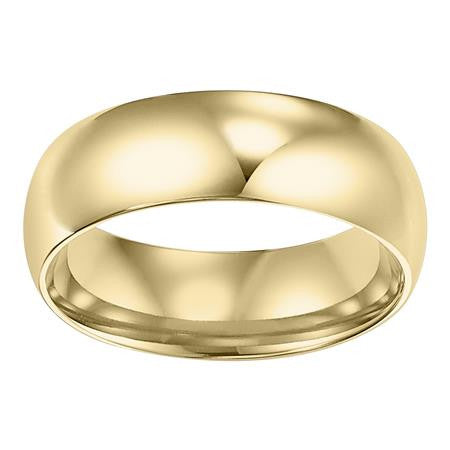 14K Yellow Gold Low Dome Wedding Band 4mm