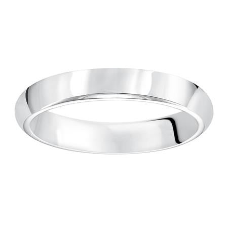 14K White Gold 4mm Comfort Fit Band