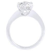 Platinum Six Prong Solitaire Diamond Engagement Ring