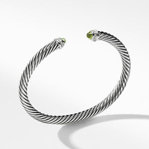 Cable Classics Bracelet with Peridot and Diamonds