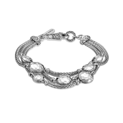 Dot Three-Row Multi Station Bracelet