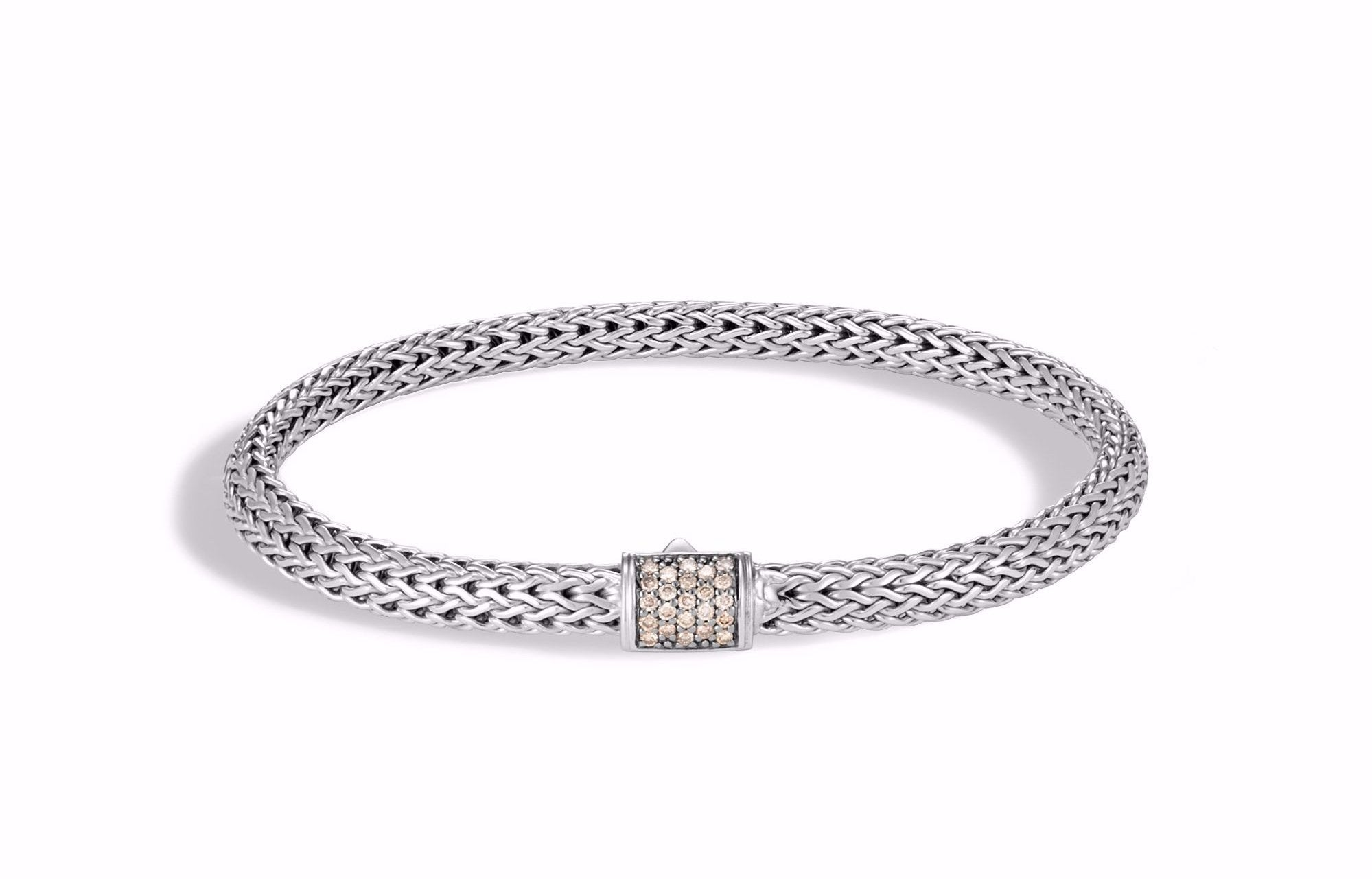 Classic Chain Bracelet with Champagne Diamonds