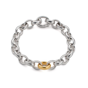 Sterling Silver Ultra Bracelet with Gold Link