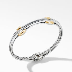 Thoroughbred® Double Link Bracelet with 18K Yellow Gold