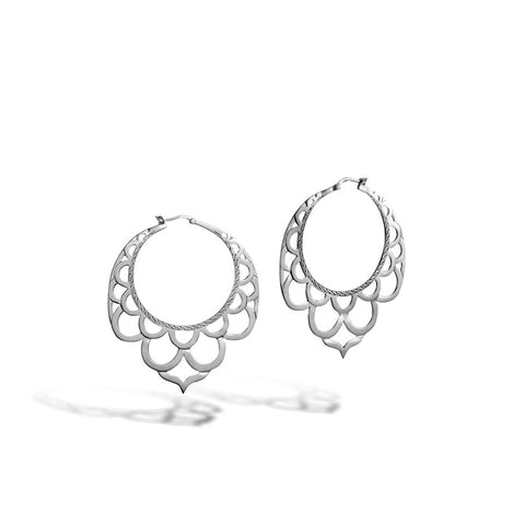 Legends Naga Large Side Facing Lace Hoop Earrings