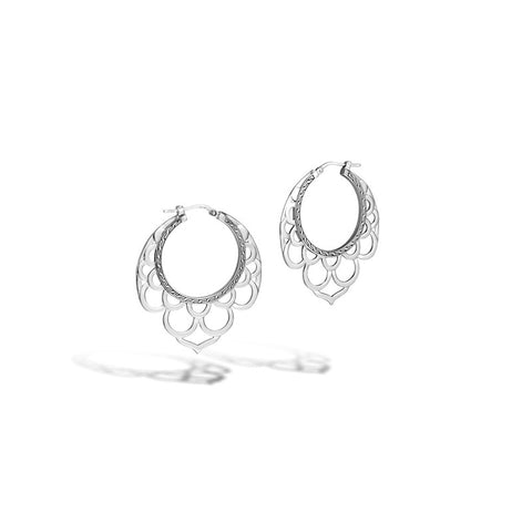Legends Naga Small Side Facing Lace Hoop Earrings