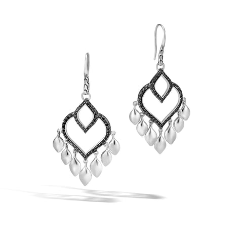 Legends Naga Chandelier Earring with Black Spinel