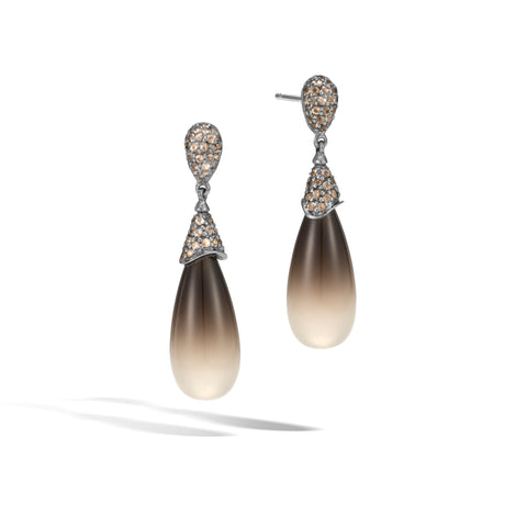 Classic Chain Drop Earring with Smoky Quartz
