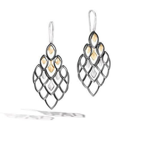 Legends Naga 18K Gold & Silver Drop Earrings on French Wire