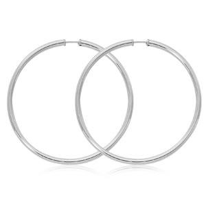 Sterling Silver Endless Hoop Earrings