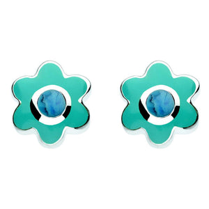 Sterling Silver December Birthstone Studs