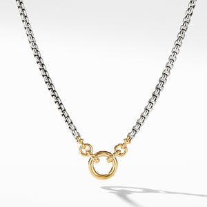 Amulet Vehicle Box Chain Necklace with 18K Yellow Gold