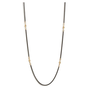 18K Yellow and Sterling Silver Crivelli Necklace